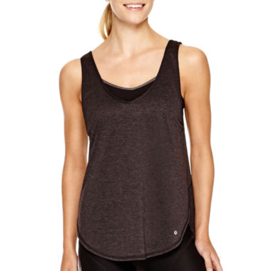 jcpenney.com | Xersion™ Open Back Layered Tank Top