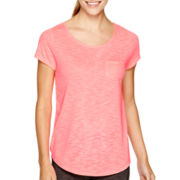 Xersion™ Studio Short-Sleeve Illusion Mesh Back T-Shirt