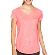 Xersion™ Studio Short-Sleeve Illusion Mesh Back T-Shirt