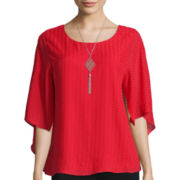 Alyx® Long-Sleeve Textured Capulet Top