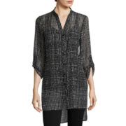 Alyx® 3/4-Sleeve Printed High-Low Shirt