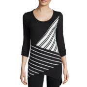 Alyx® Long-Sleeve Asymmetric Stripe Knit Top