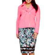 BELLE + SKY™ Scuba Moto Jacket or Mesh Inset Bodycon Skirt