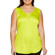 Worthington® Sleeveless Woven Blouse - Plus