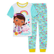 Disney Doc McStuffins 2-Pc. Short-Sleeve Cotton Pajama Set