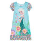Disney Collection Frozen Elsa Short-Sleeve Nightshirt