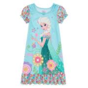 Disney Collection Frozen Elsa Short-Sleeve Nightshirt