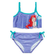 Disney Collection Ariel 2-pc. Swimsuit - Girls 2-10