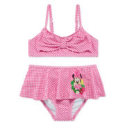 Disney Collection 2-pc. Minnie Mouse Swimsuit - Girls 2-8