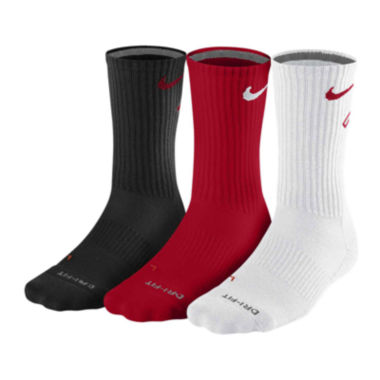 jcpenney.com | Nike® 3-pk. Dri-FIT® Fly Crew Socks
