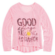 Arizona Graphic Knit Sweater - Girls 7-16 and Plus