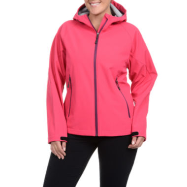 jcpenney.com | Champion® Four-Way Stretch Hooded Soft Shell Jacket - Plus