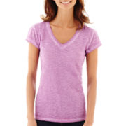 a.n.a® Short-Sleeve V-Neck T-Shirt - Petite