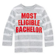 Okie Dokie® Striped Graphic Tee - Toddler Boys 2t-5t