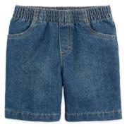 Okie Dokie® Pull-On Denim Shorts - Toddler Boys 2t-5t