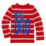 Okie Dokie® Striped Graphic Tee - Preschool Boys 4-7