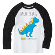 Okie Dokie® Long-Sleeve Graphic Raglan Tee - Preschool Boys 4-7