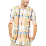 St. John's Bay® Short-Sleeve Button-Front Shirt