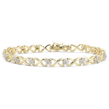 jcpenney.com | 1/10 CT. T.W. Diamond 14K Gold over Sterling Silver Bracelet
