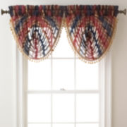 Royal Velvet® Dorset Stripe Rod-Pocket Sheer Waterfall Valance