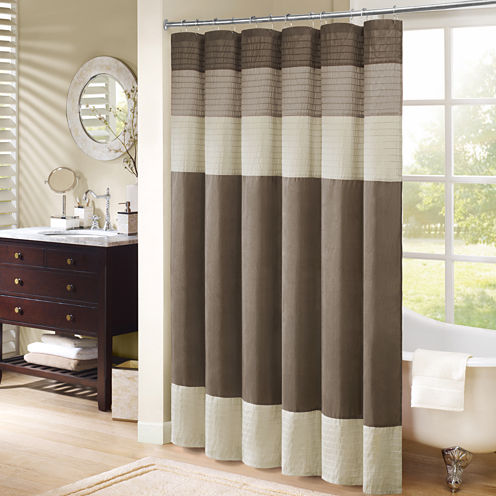 Madison Park Eastridge Pleated Shower Curtain