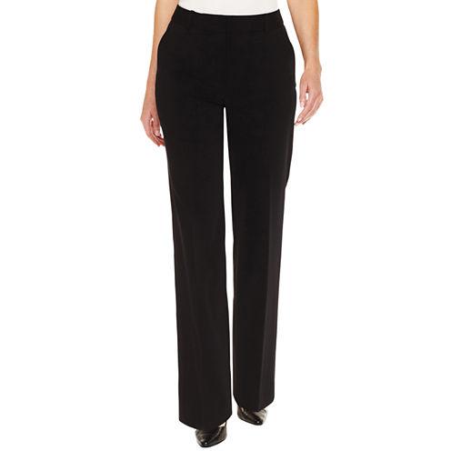 Liz Claiborne® Secretly Slender™ Straight-Leg Trouser Pants - Petite