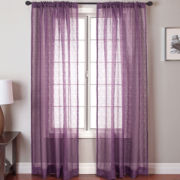 Palmetto Square Rod-Pocket Sheer Panel
