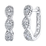 Cubic Zirconia Twist Hoop Earrings