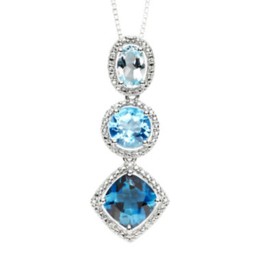 jcpenney.com | Genuine Blue Topaz and Diamond-Accent Necklace