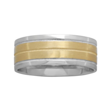jcpenney.com |  Mens 8mm Two-Tone Gold Wedding Band