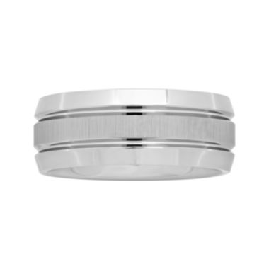 jcpenney.com |  Mens 9mm Comfort Fit Tungsten Carbide Double Grooved Wedding Band