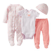 Carter's® Crab 4-pc. Layette Set - Girls preemie