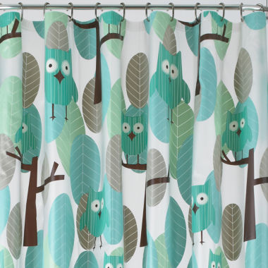 jcpenney.com | JCPenney Home™ Owls PEVA Shower Curtain