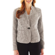 Liz Claiborne Long-Sleeve Tweed Jacket