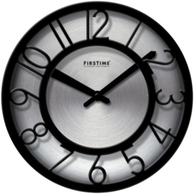 jcpenney.com | FirsTime® Black-on-Steel Wall Clock
