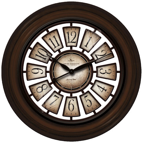 """FirsTime® Oversized 29"""" Majestic Hollow Wall Clock"""