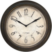 FirsTime® Distressed Bronze Wall Clock