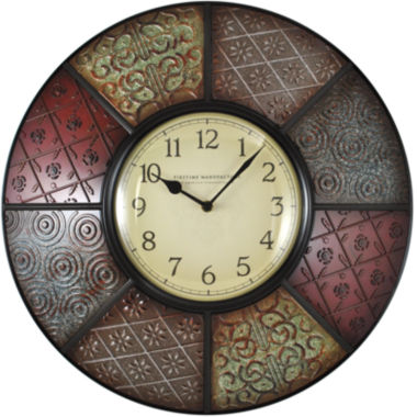jcpenney.com | FirsTime® Patchwork Wall Clock