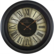FirsTime® Divided Amber Wall Clock