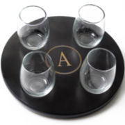 Cathy's Concepts Monogrammed Stemless Wine Glass Flight Set