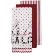 Ladelle® Fa La La Set of 3 Dish Towels