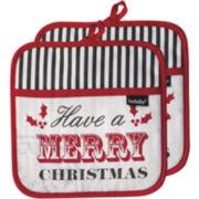 Ladelle® Santa Delivery Set of 2 Potholders