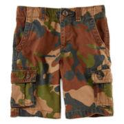 Arizona Solid Cargo Shorts – Boys 4-7