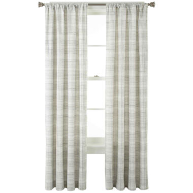 jcpenney.com | Home Expressions™ Wright Thermal Back Rod-Pocket Curtain Panel