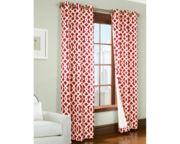 Trellis Grommet-Top Thermal Cotton Curtain Panel Pair