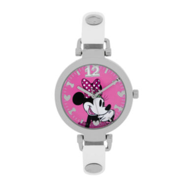 jcpenney.com | Disney® Minnie Mouse Womens Glitter Bracelet Watch