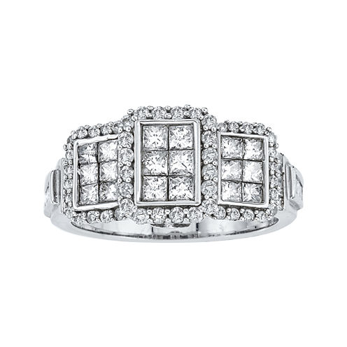 LIMITED QUANTITIES 1 3/8 CT. T.W. Diamond 14K White Gold Ring