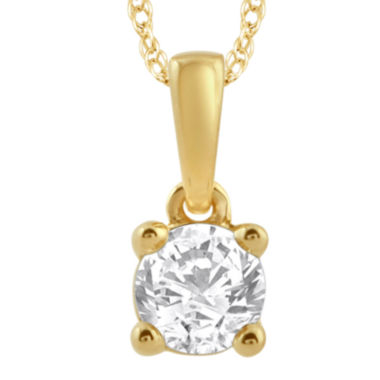jcpenney.com | 1/3 CT. T.W. Diamond 14K Yellow Gold Solitaire Pendant
