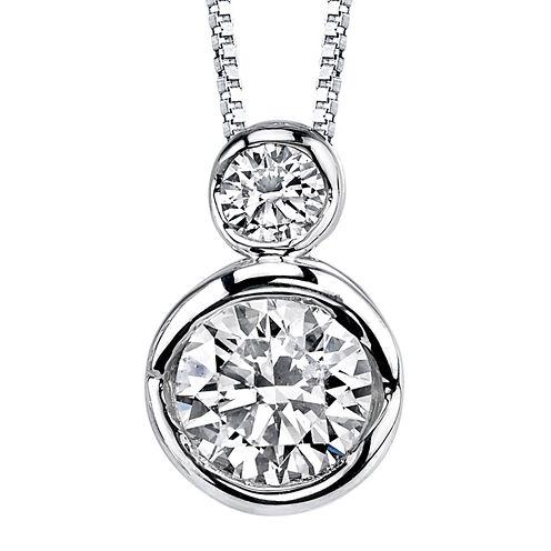 Sirena® 1/4 CT. T.W. Diamond 14K White Gold Pendant