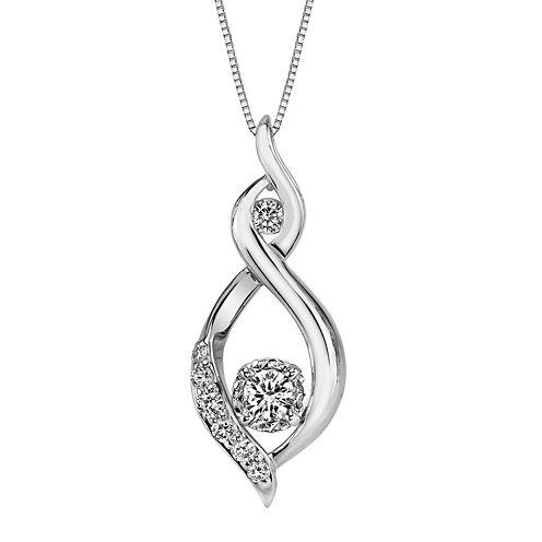 Sirena®  1/4 CT. T.W. Diamond Pendant